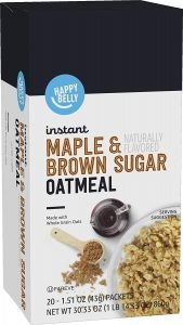 Happy Belly Maple And Brown Sugar Instant Oat Meal
