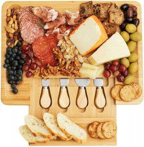 Home Euphoria Natural Bamboo Cheese Platter