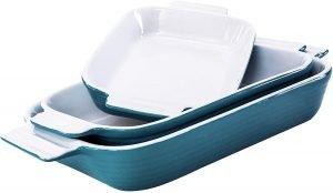 Hompiks Casserole Porcelain Dish And Bakeware Set