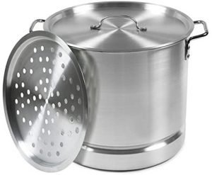 Imusa Usa Aluminium Tamale And Crab Steamer Pot