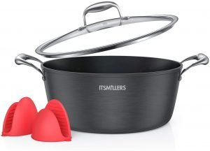 Itsmillers Ultra Nonstick Modern Hard Anodized Dutch Oven