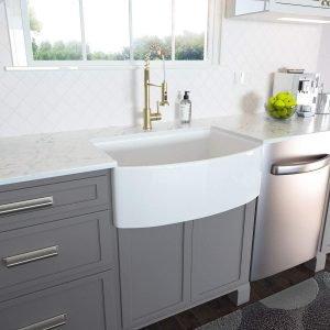 Lordear White Farmhouse Sink