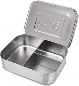 Lunchbots Medium Trio Ii Stainless Steel Bento Style Lunch Box