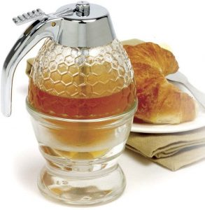 Norpro Glass Honey And Syrup Dispenser