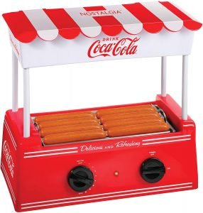 Nostalgia Hdr8ck Coca Cola Hot Dog Roller Cooker