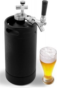 Nutrichef Mini Keg Homebrew Growler Beer Dispenser