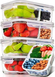 Prep Naturals Glass Food Containers