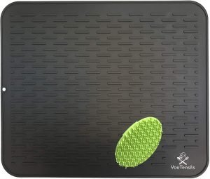 Protensils Silicone Dish Drying Mat & Scrubber