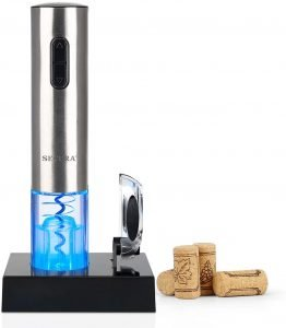Secura Automatic Electric Wine Bottle Corkscrew Opener