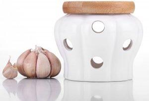 Vinkoe Garlic Keeper Ceramic Storage