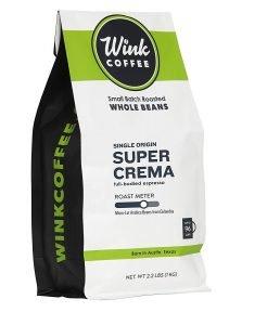 Wink Super Crema Espresso 100% Whole Bean Coffee