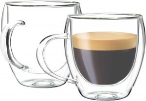 Youngever 2 Pack Glass Mugs