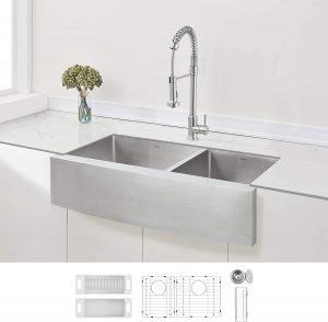 Zuhne Double Basin Farmhouse Sink