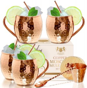 B. Weiss Pure Copper Moscow Mule Mugs