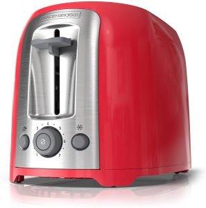 Black+decker 2 Slice Red Toaster