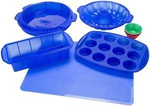 Classic Cuisine 82 18700 Blu Silicone Bakeware Set