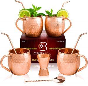 Copper Bar Moscow Mule Copper Mugs
