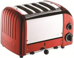 Dualit 4 Slice Classic Red Toaster