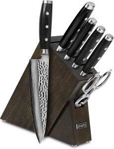 Enso Vg10 Hammered Damascus Japanese Knife Set