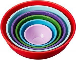 Gourmet 6 Piece Nested Mixing Bowl Set