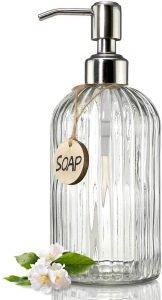 Jasa Clear Glass Soap Dispenser