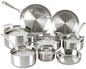 Lagostina Axia Tri Ply Stainless Steel Cookware Set