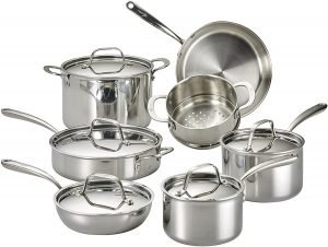 Lagostina Tri Ply Stainless Steel Multiclad Cookware Set
