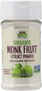 Now Foods Organic Monk Fruit Extract Powder Sweetener