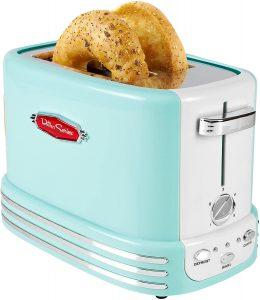 Nostalgia Rtos200aq Retro 2 Slice Bagel Toaster
