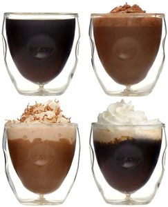 Ozeri Moderna Artisan Series Beverage & Espresso Shot Glasses