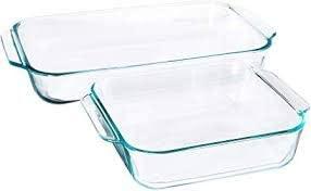 Pyrex Basics 2 Piece Clear Baking Dish