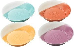 Royal Doulton Bright Colors Mixed Patterns Pasta Bowls