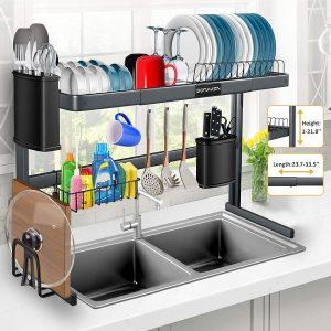 Soren Stainless Steel Over Sink Dish Drying Rack