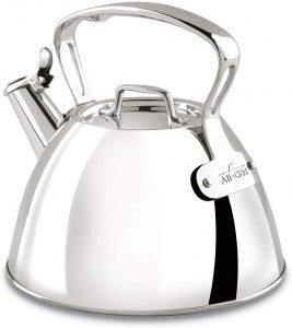 All Clad 2 Quart Stainless Steel Tea Kettle