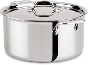 All Clad Tri Ply Eight Quart Stainless Steel Stockpot