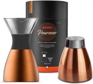 Asobu Copper Insulated Pour Over Coffee Maker