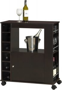 Baxton Studio Wood Dry Bar And Wine Cabinet