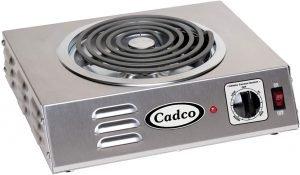 Cadco Countertop Hi Power Single 120 Volt Hot Plate