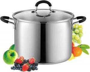 Cook N Home Eight Quart Metallic Stockpot
