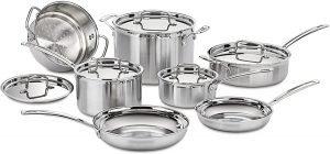 Cuisinart Mcp 12n Stainless Steel Cookware Set