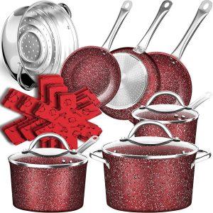 Df 16 Piece Ultra Non Stick Pots And Pans Set