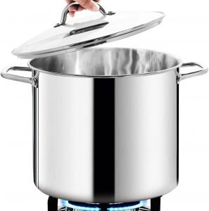 Homi Chef Large Nickel Free Stainless Steel Stock Pot