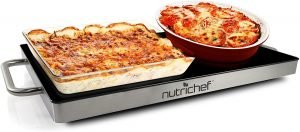 Nutrichef Portable Hot Plate Tray Dish Warmer