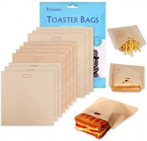 Samshow Non Stick Reusable Toaster Bags