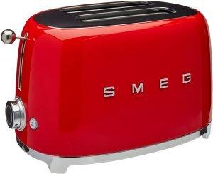 Smeg Tsf01rdus Two Slice Toaster