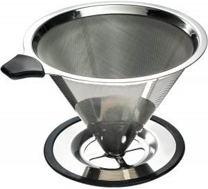 Yitelle Stainless Steel Pour Over Coffee Maker Cone Dripper