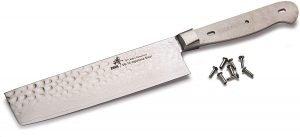 Zhen Hammered Surface Nakiri Knife