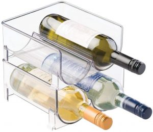 Mdesign Plastic Free Standing Wine Rack