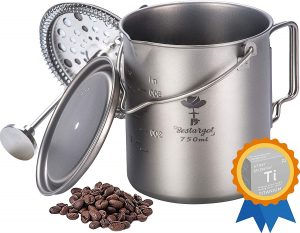 Bestargot Titanium French Coffee Press Pot