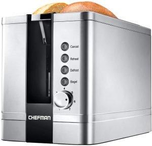 Chefman 2 Slice Pop Up Stainless Steel Toaster